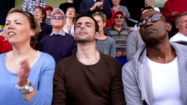 Crowd of sports spectators video