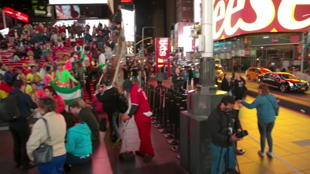 POV crowd point of view Time Square New York City video