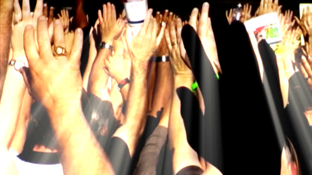 Crowd with Hands Raised video