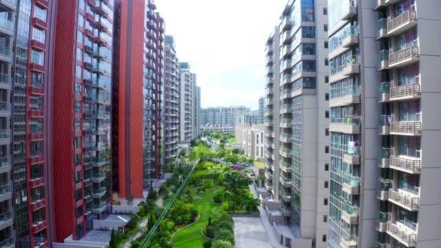 Crowded apartment block in Pak Shek Kok, Hong Kong