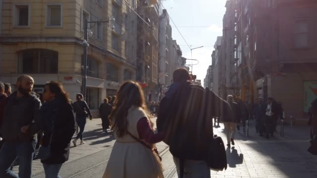 Crowded Istiklal street in Istanbul Crowded Istiklal street in Istanbul istanbul stock videos & royalty-free footage