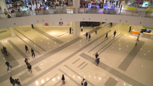 crowded many people in luxury shopping mall video