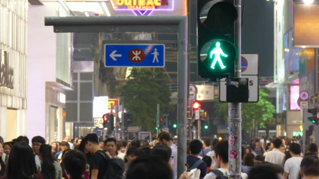 crowded people in Hong Kong City video