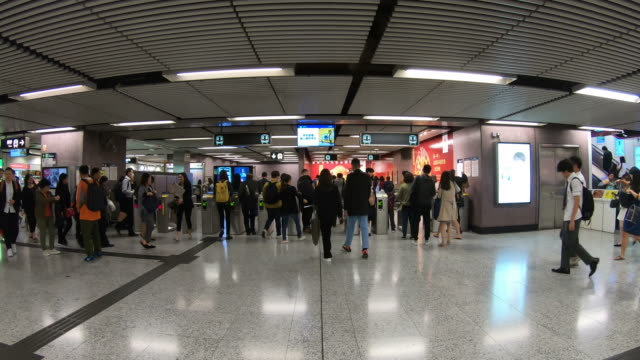 crowded people in Hong Kong Subway