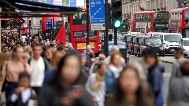 Crowded Regent Street London