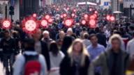 istock Crowded street virus spread 1223608234