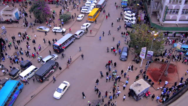 Crowded streets of Nairobi, Kenya video