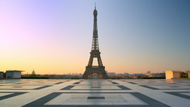 Crowdless Eiffel Tower - Trocadero in Paris