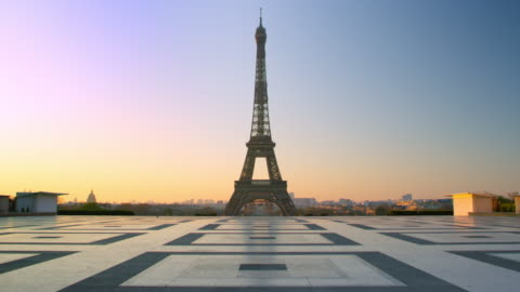 Crowdless Eiffel Tower - Trocadero in Paris Paris during Quarantine due to Covid-19 france stock videos & royalty-free footage
