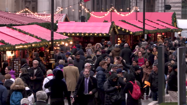 Crowds at Christmas Market in London