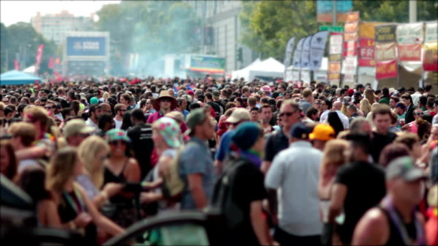 Crowds at the San Francisco Pride Celebration video