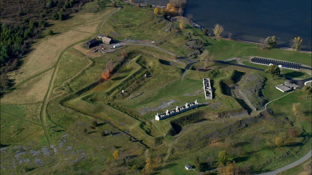 Crown point fort - Aerial View - New York,  Essex County,  United States