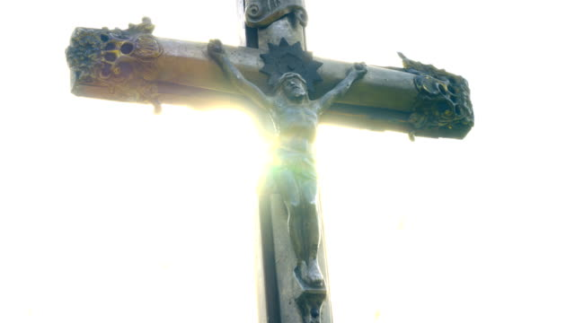 Crucifix at sunet