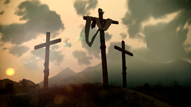 Crucifixion Cross on Calvary hill video