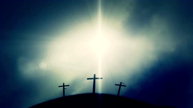 Crucifixion of Jesus on Golgotha Mount Calvary video