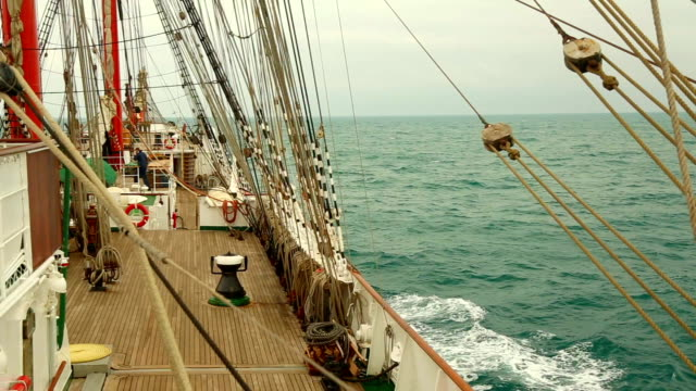 cruise on an old sailing ship video