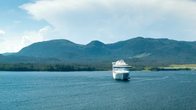 Cruise Ship Anchored in Ketchikan Alaska video