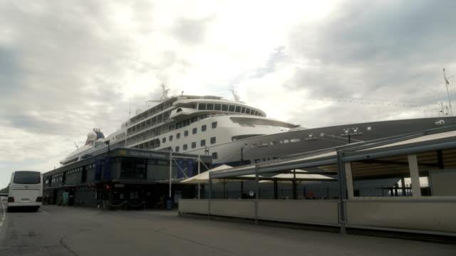 vídeos y material grabado en eventos de stock de crucero de oslo noruega - amarrado