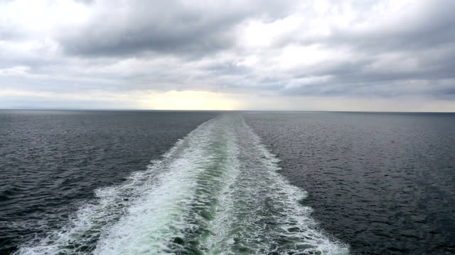 Cruise Ship Ferry Wake video