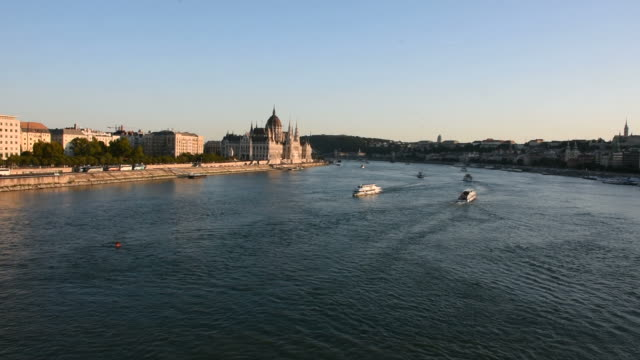 Cruises boat tour in Danube river and Hungarian Parliament in Budapest, Hungary
