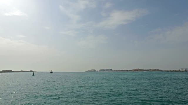 Cruising near Dubai coastline video