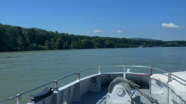 Cruising on Danube by Large Ship video