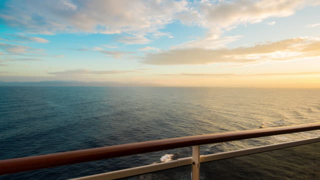 T/L Cruising on the sea at sunset video
