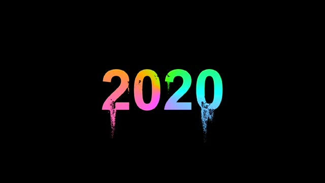 2020 crumbles into many particles in the form of colored sand