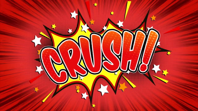 crush - comic style text - super hero stock videos & royalty-free footage