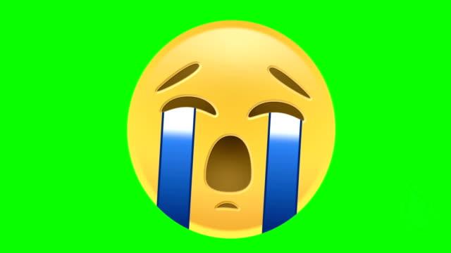 crying emoji - emoji video stock e b–roll