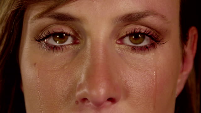 CLOSE UP SLOW MOTION: Crying woman CLOSE UP SLOW MOTION: Crying woman depression land feature stock videos & royalty-free footage