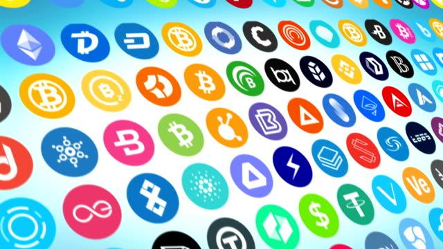cryptocurrencies - криптовалюта стоковые видео и кадры b-roll