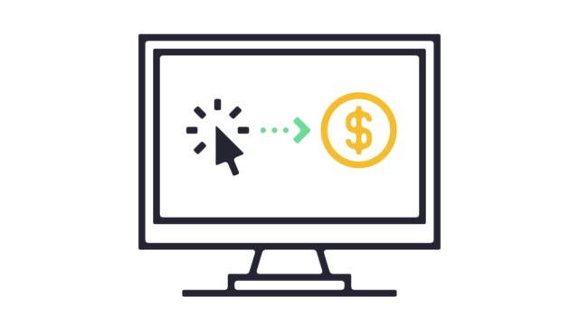 vidéos et rushes de animation de l'icône de cryptocurrency - book