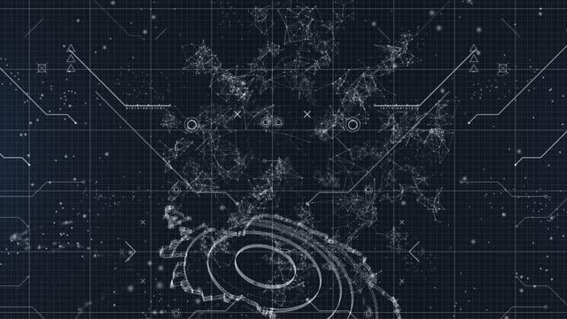 concetto di rete di criptovalute - elemento del design video stock e b–roll