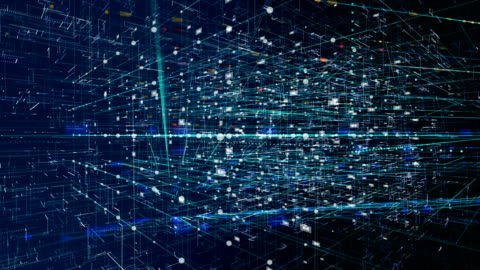 concetto di rete di criptovalute - network video stock e b–roll