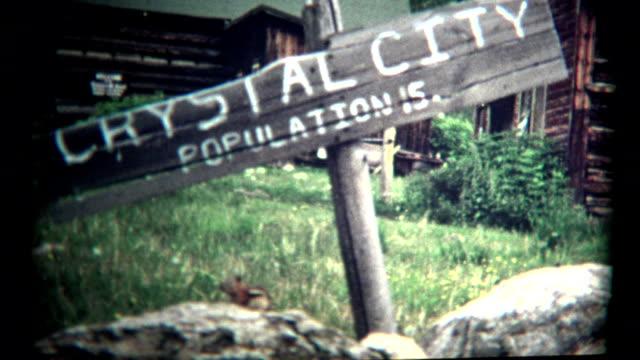 (1960 er jahre vintage 8 mm) crystal city mountain stadt von 15 personen - ferienlager stock-videos und b-roll-filmmaterial
