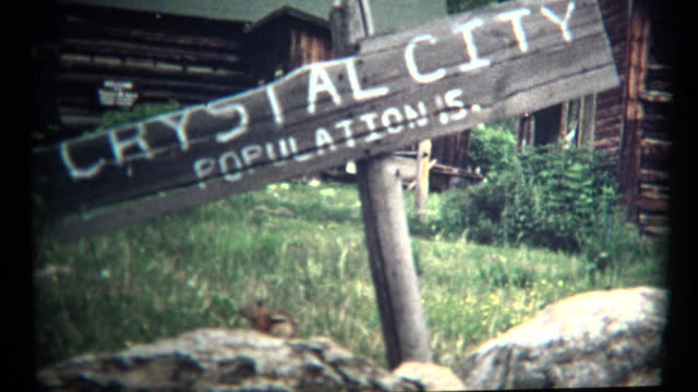 (1960's 8mm Vintage) Crystal City Mountain Town of 15 People