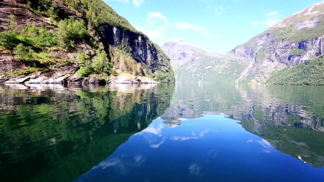 crystal clear lake - fiordo video stock e b–roll