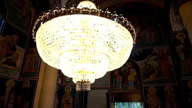 Crystal cut-glass grand chandelier Crystal cut-glass grand chandelier victorian architecture stock videos & royalty-free footage