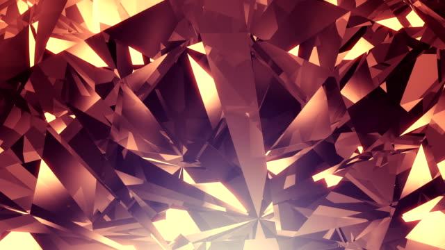 Crystal diamond background loop video