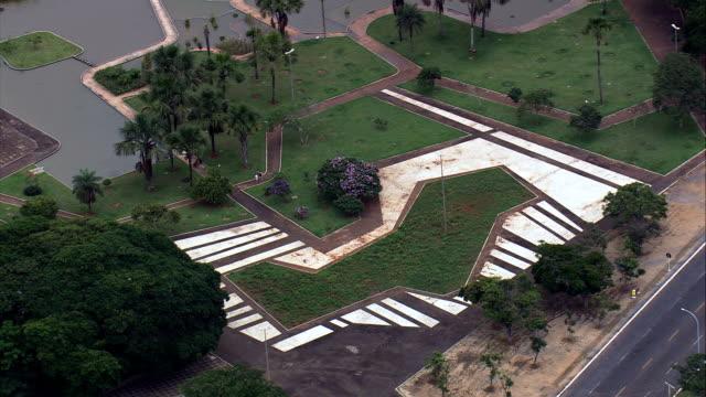 Cristal metros Vista aérea-Distrito Federal, Brasília, Brasil - vídeo