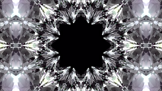 Crystalline abstract background. video