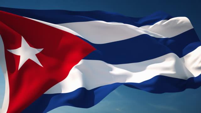 4 K Kuba Flagge-Schleifen einsetzbar – Video