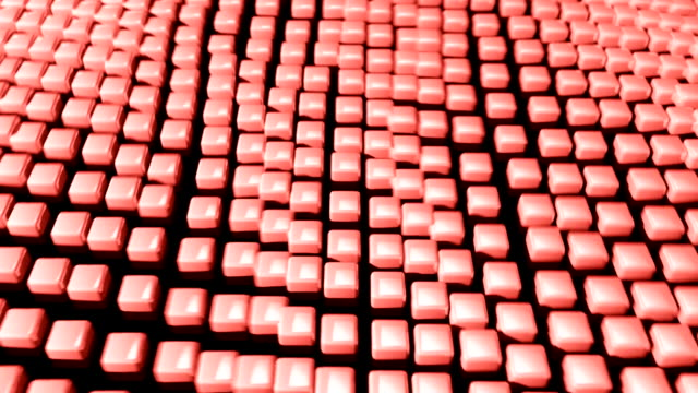cube grid flow patterns wobble abstract background pink red 2 - tron sci fi bildbanksvideor och videomaterial från bakom kulisserna