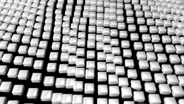 cube grid flow patterns wobble abstract background white 2 - tron sci fi bildbanksvideor och videomaterial från bakom kulisserna
