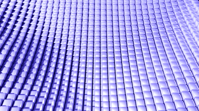 cube grid patterns wobble abstract background blue purple - tron sci fi bildbanksvideor och videomaterial från bakom kulisserna