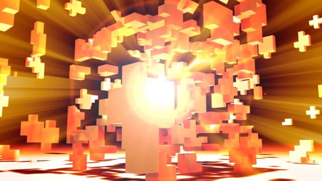 3D Cube Matrix Abstract video