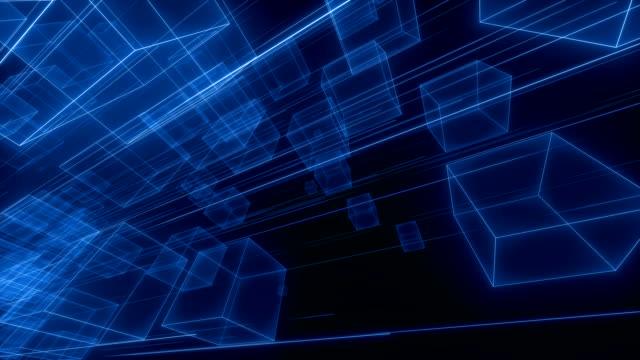 3d cube space vj loop - rechteck stock-videos und b-roll-filmmaterial