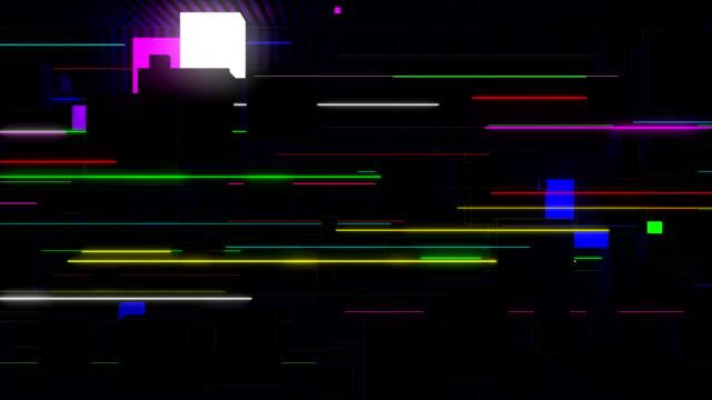 vídeos de stock e filmes b-roll de vj cubes and lines - imagem pulsante