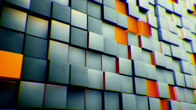 Cubes wall background video